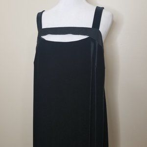 Ashley Stewart Velvet Maxi Dress Black Size 22
